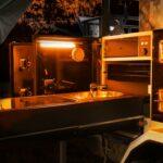 25cm orange & white LED camp light bar
