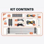 4 Bar LED camp light kit