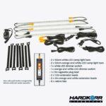 Lifestyle 4 bar orange & white LED camp light kit