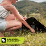 Heavy duty portable solar mat inbuilt legs