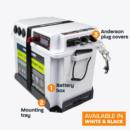 Heavy duty battery box combo