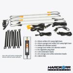 Lifestyle 4 Bar Orange/White LED Camping Light Kit