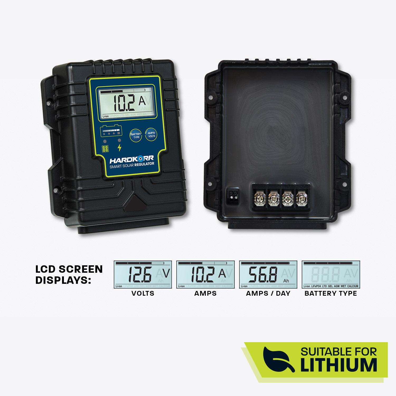 15A Waterproof Lithium-Compatible PWM Solar Regulator