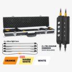 4 Bar Tri-Colour LED Camp Light Kit