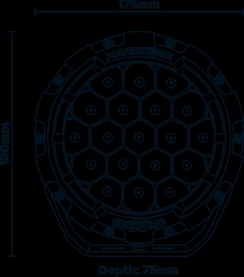 Hardkorr HKBZRX180 dimension diagram