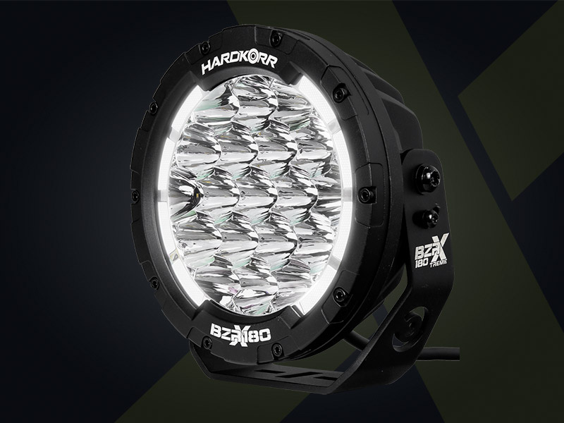 BZR-X Series LED Driving Lights have inbuilt Daytime Running Lights
