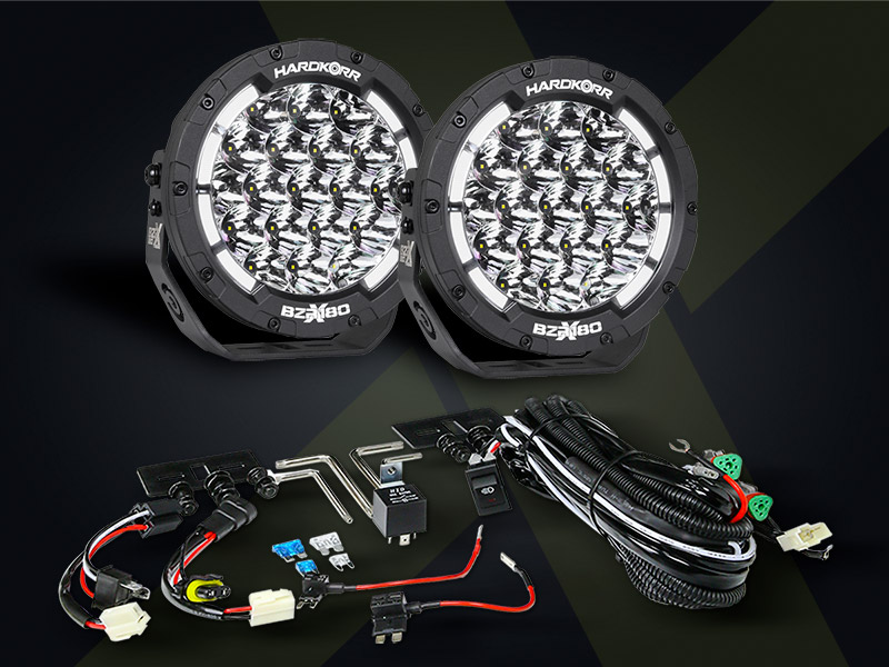 BZR-X Series LED Driving Lights come with wiring harness and security bolts included