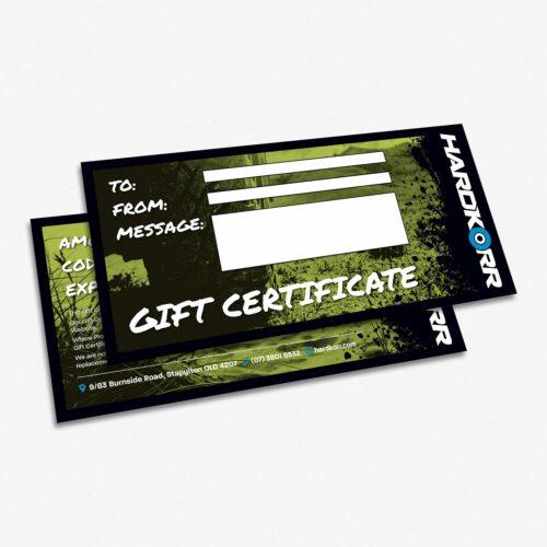 Hardkorr Gift Certificates